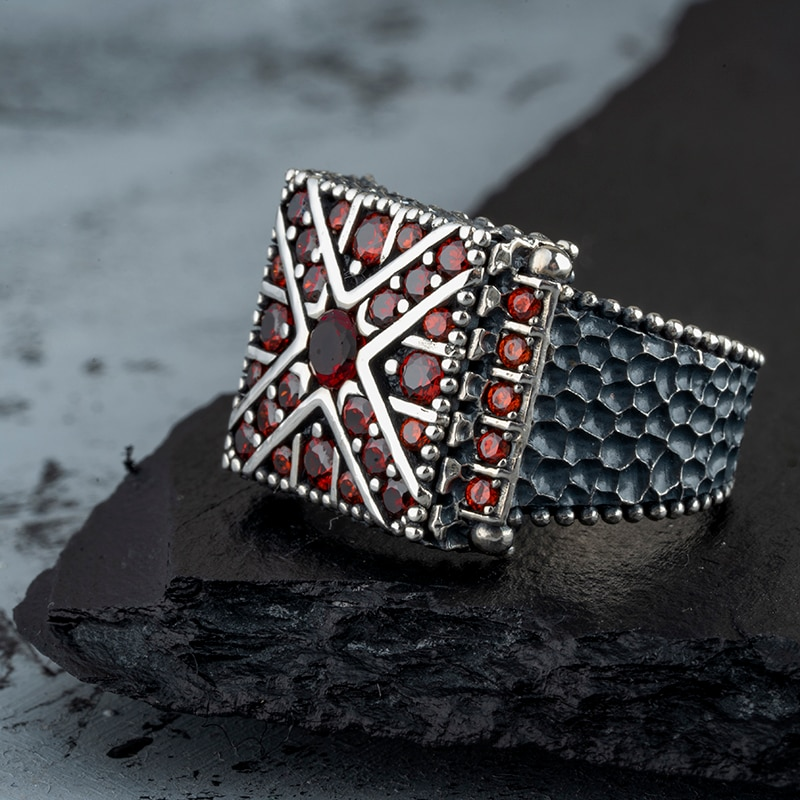 Guaranteed High-quality 925 Sterling Silver MİNİ ZİRCON STONE ring Jewelry Made in Turkey in a luxurious way for men with gift