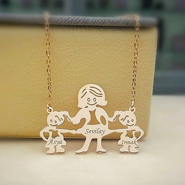 Is Mother Baby and Child Silver Necklace