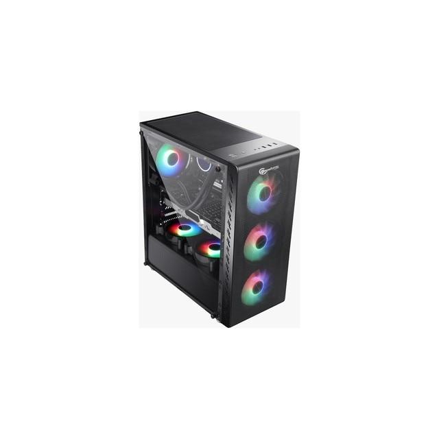Performax Xenom 4 Fan Computer Case Led Glass and Windowed PC Case 4x Rainbow Fan Atx Case Mega Computer Set 10