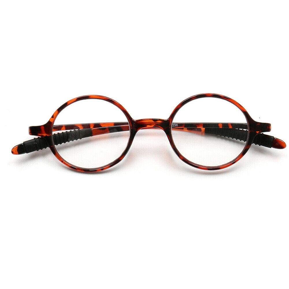 Gafas de lectura redondas para hombres 1,0 1,5 2,0 2,5 3,0 3,5 lectores retro Vintage mujeres ligeras negro claro gris ámbar tortuga