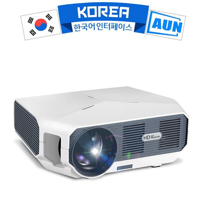 MiNi proyector LED Serie AUN ET10 para proyector de vídeo 3D. 1280x720P, 3800 lúmenes, compatible con 1080P, HD-IN (Android 6,0 opcional)