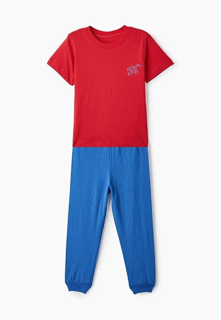 Пижама детская, для мальчиков, хлопковая, комплект домашней одежды, RobyKris 40 24 12 красный василек