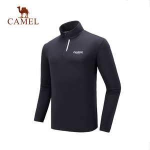 CAMEL 2021 Autumn Fitness Running T-shirt for Men Sports Quick-drying Casual Long-sleeved T-shirt Round Neck Top Clothing