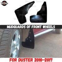 mudguards of front wheels for renault duster 2010 2017 broad form rubber accessories protective anti splash car styling tuning