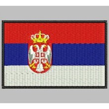 Bandera SERBIA para mascarilla parche bordado Iron patch toppa ricamata gestickter patch patch brode