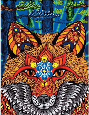 Imagen por números GX 34728 Wise fox 40*50