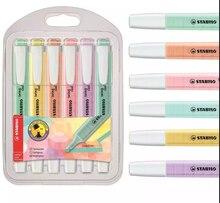 Stabilo Boss Swing Cool Pastel marcadores rotuladores permanentes-1-4mm paquete de 6 colores surtidos suministros Lettering