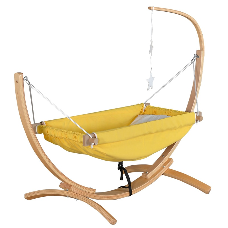 Tipping Safe Wooden Hammock Baby Cradle Swing