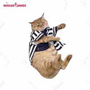 Obanai Iguro Pets Cosplay Costume Photo Prop for Cats Small Dogs