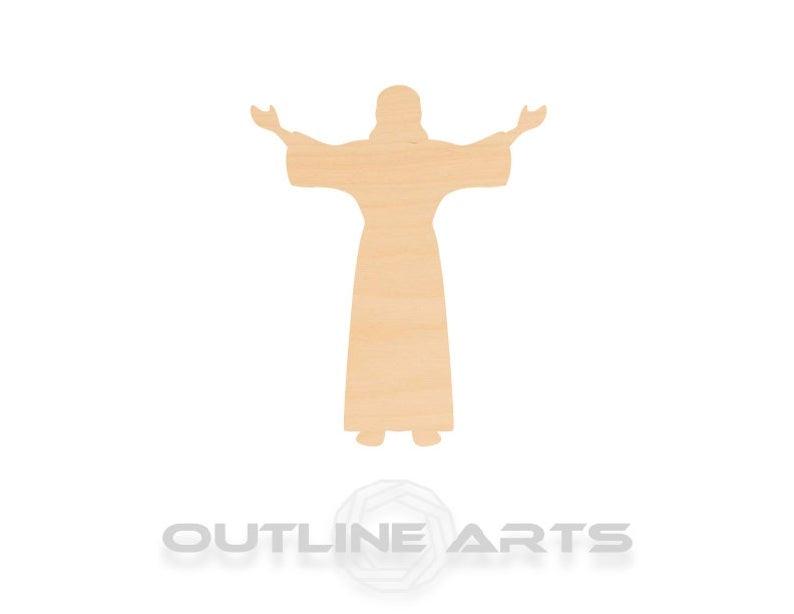 10 חתיכות ישו לייזר לחתוך עץ צורת קרפט אספקת