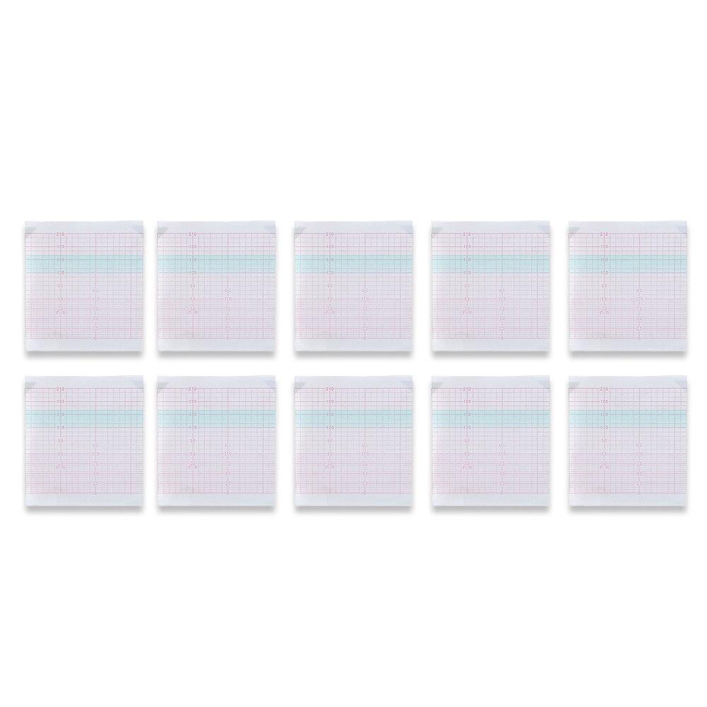 10 قطعة ورقة تسجيل الحرارية ل eM8/eM9 جهاز مراقبة الجنين ورق الطباعة