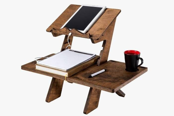 Adjustable Prayer Quran Holder Stand Ramadan Gift Rihal Rehal Wooden Carved Gift Quran and Laptop Priest