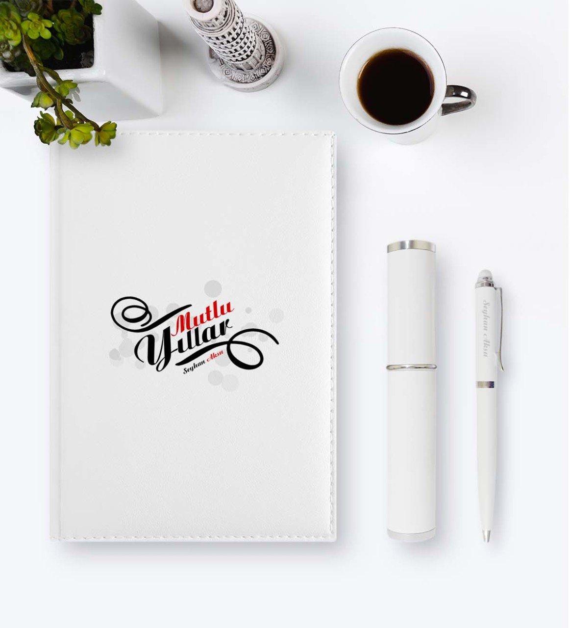 Personalized Happy birthday 2020 Leather Organizer & Pen Gift Set-3