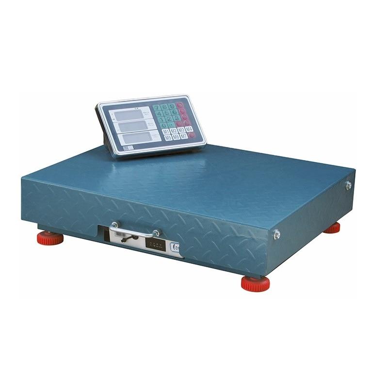 """Весы торговые электронные беспроводные \""""Умница\"""" ВТБ-150кг, для дома, аккумуляторная батарея, дисплей LCD, металлические"""