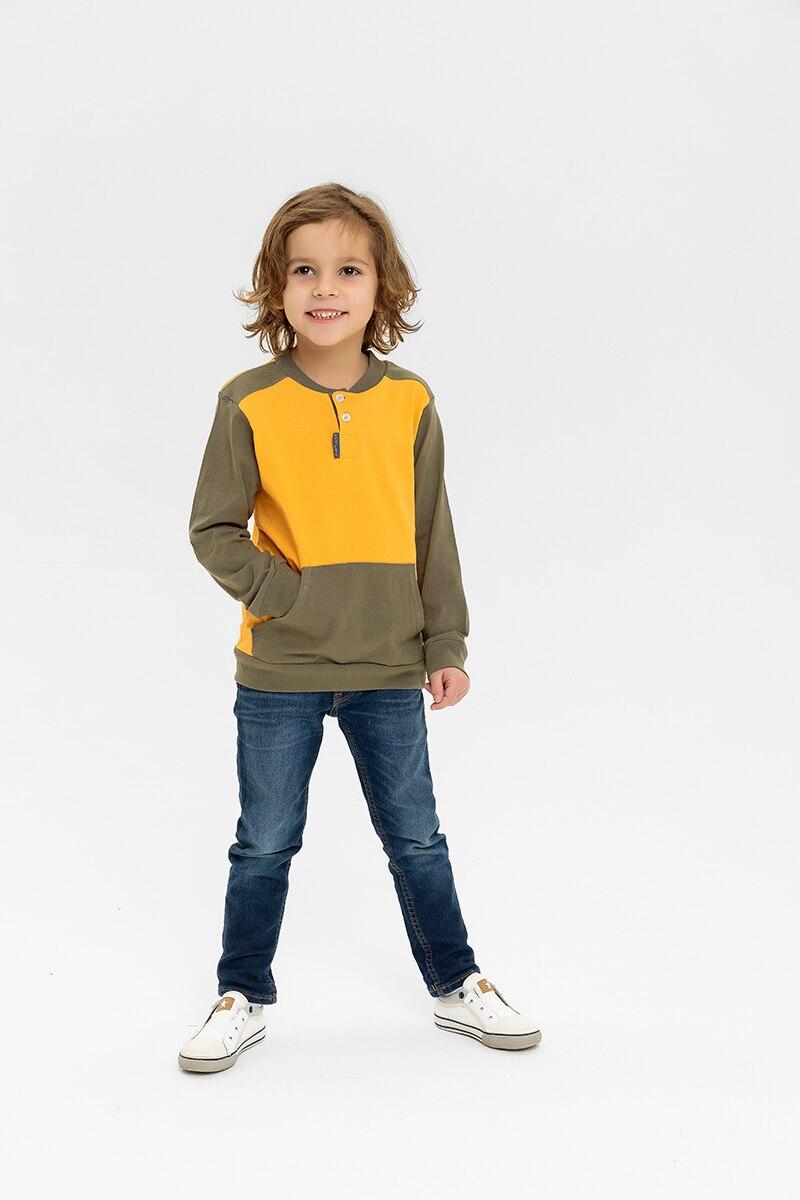 Детский свитшот, Футболка с длинным рукавом для мальчика, RobyKris, 40 002 20, оранжевый