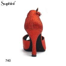 Livraison gratuite zapatos de baile latino talon haut diamant Suphini chaussures de danse latine handmadecompétition talon Latin Salsa chaussures