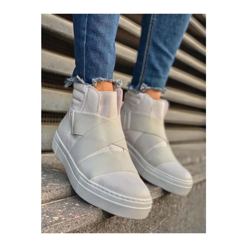 Chekich ch023 it botas masculinas branco