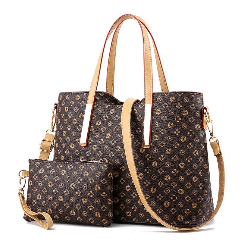 2 unids/set de Neverfull Bags, bolsos y bolsos de diseñador para mujer, bolsos de mano Vintage, bolsos de moda 2020, Bolsos De Mujer F