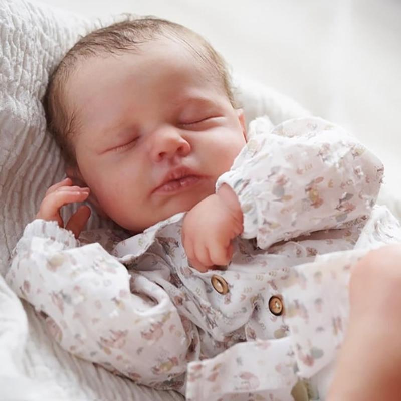 RSG 20 بوصة لتقوم بها بنفسك فارغة تولد من جديد دمية طفل أجزاء النوم Loulou غير مصبوغ أجزاء دمية طفل لم تنته الفينيل عدة
