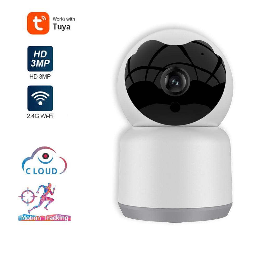 tuya 2021 china 1080p full hd 360 degree ip smart wireless wifi mini cctv camera with night vision Tuya HD 1080P Mini Cloud Wireless IP Auto Tracking Night Vision WiFi Home Surveillance CCTV Samrt Security Camera