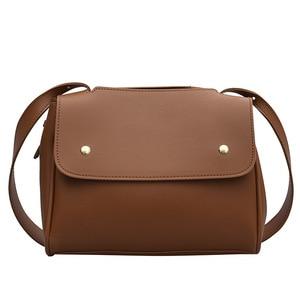 Casual Women's Handbag Solid Color Soft Crossbody Single Strap Shoulder Bag Women New Zipper&Hasp Fashion Messenger Female Bag