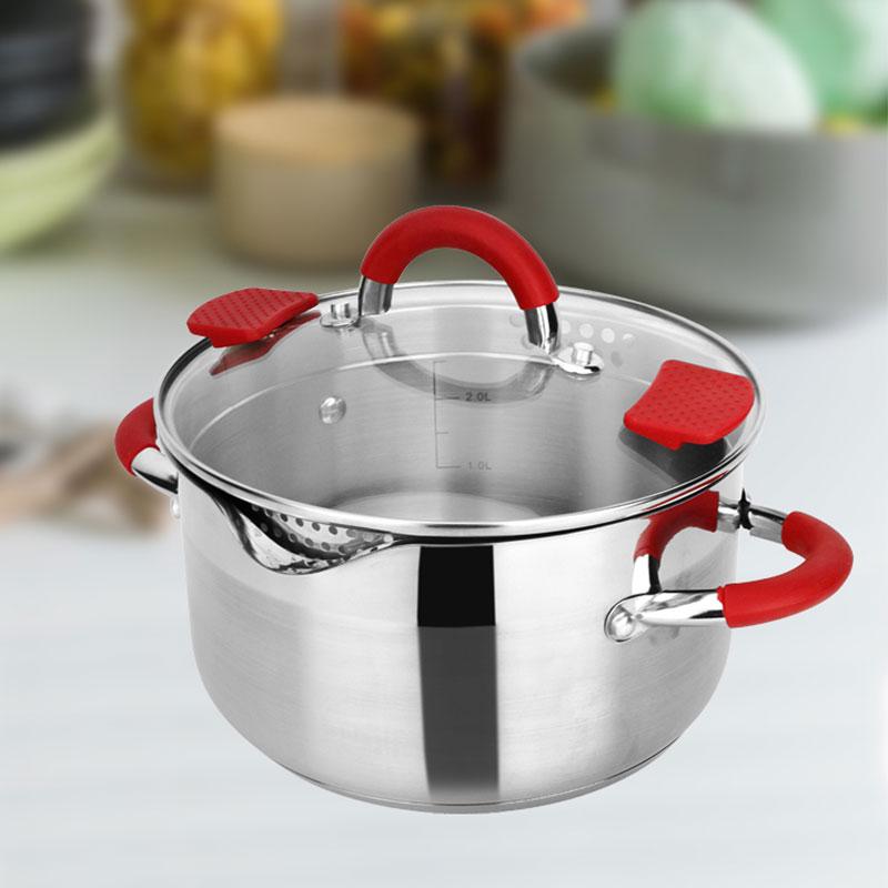 Olla de cocina de 24CM de alta calidad, olla caliente de acero inoxidable, olla de inducción sharu, olla Compatible con utensilios de cocina para el hogar