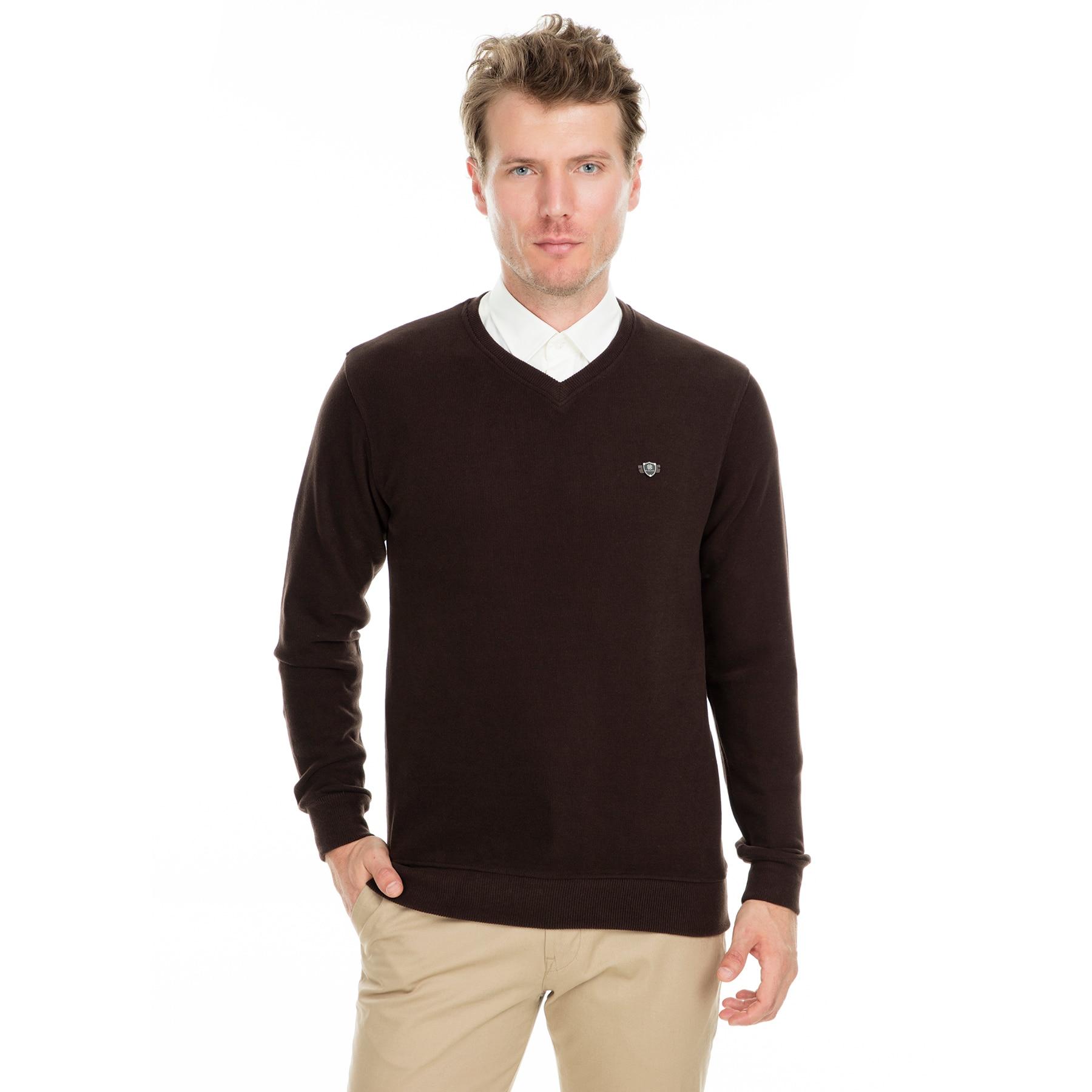 Buratti V-Neck Sweat Long Sleeve Male Sweat Spring Sweatshirts Fashion Men Clothing 4562102