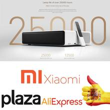 Globale Version Xiaomi MiJia Ultra Kurze Werfen laser projektor 150 zoll 5000 ANSI 1080P 4K 3D bis hause android TV theater WiFi