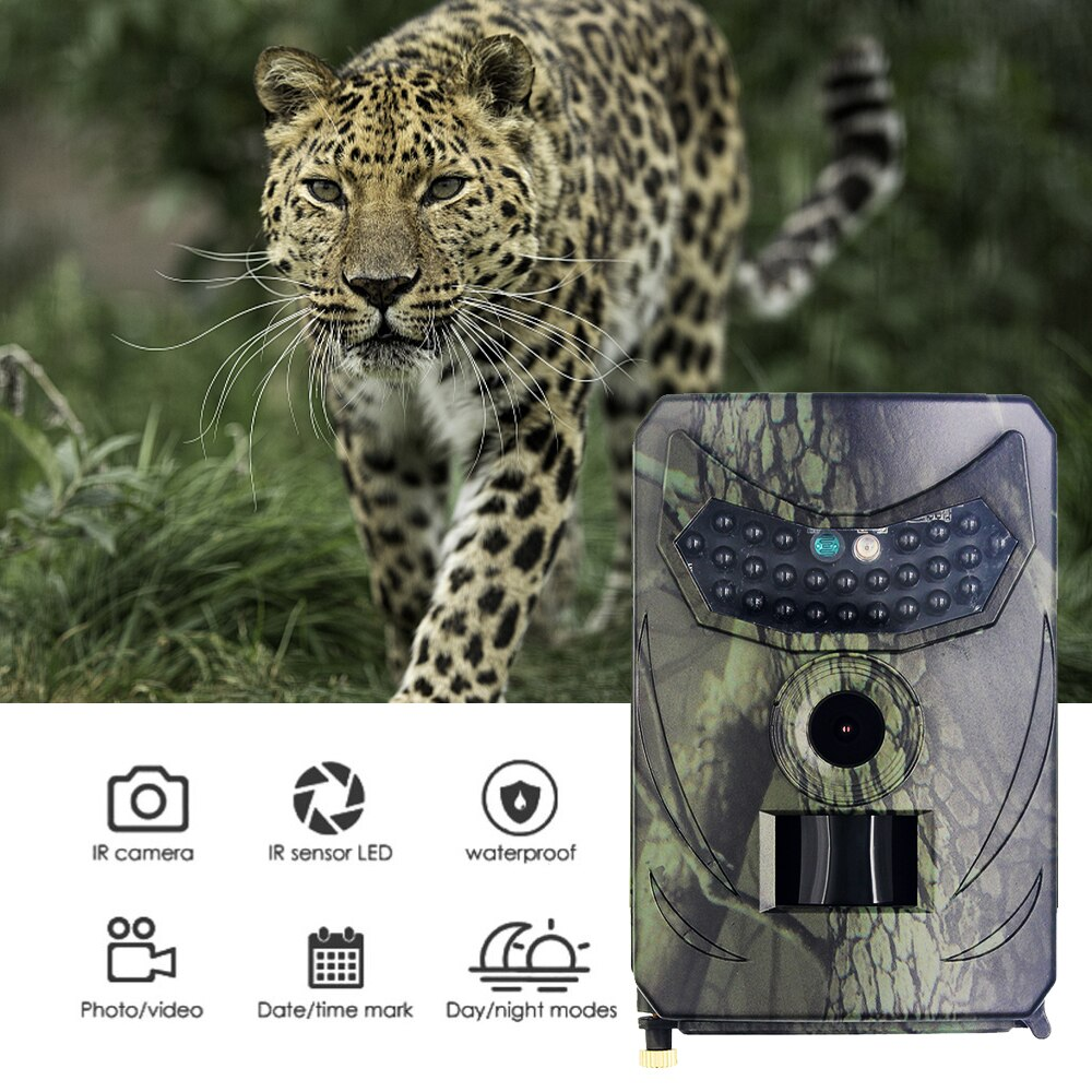 mini trail game camera night vision 1080p 12mp waterproof hunting camera outdoor wild photo traps with ir leds range up to 65ft PR 100B Hunting Trail Camera Infrared Trail Night Vision HD 1080P 12MP Waterproof Surveillance Outdoor Wildlife Game Photo Traps