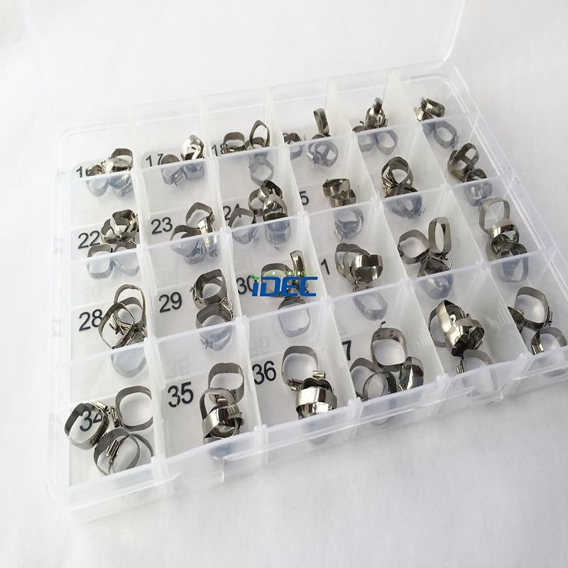 Dental Bands Regular edgewise band Double tube Dental Orthodontics bands Orthodontics Accessory #16-39 96PCS