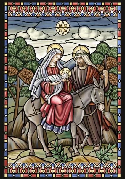 Kits de point de croix comptés pour la nativité en vitrail-couture faite à la main pour la broderie 14 ct
