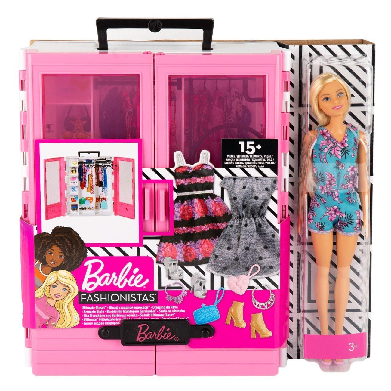 Superarmario De Barbie Con Muñeca Juguetería