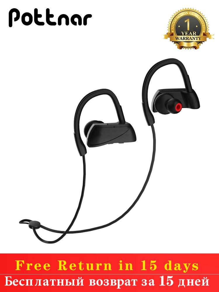 Pottnar Athlete IPX5 Waterproof Running Sport Wireless Headphones Bluetooth Earphones Headset Head E
