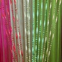 zidetang dew drop beaded string polyester door curtain fringe tassel room divider curtain deco window screen panel