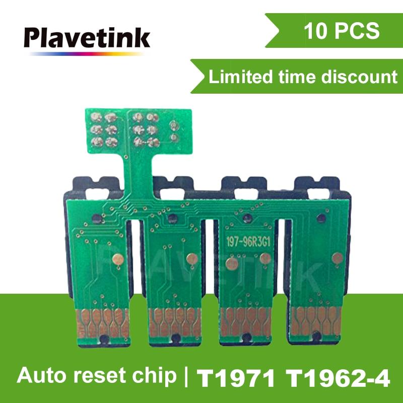 Plavetink 10 قطعة كيبك إعادة كومبو رقاقة إبسون T1971 T1962 T1963 T1964 XP201 XP211 XP204 XP401 XP411 XP214 XP101 WF-2532