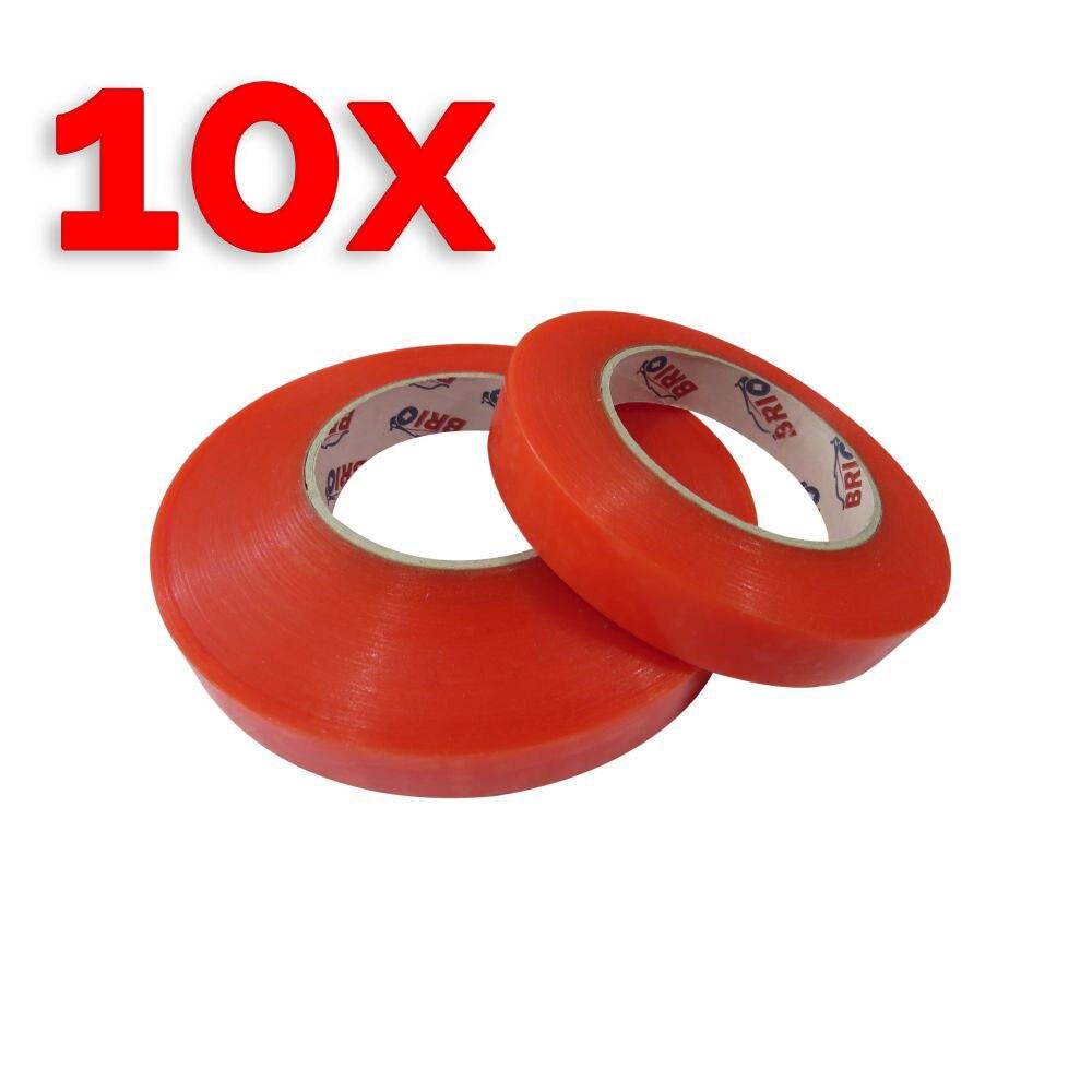 dupla face 19mm x 25m forte limpar fita adesiva transparente pacote de 10 pecas dupla