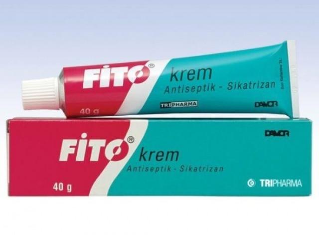 Fito creme 40 gr anti-séptico-sicatrizan creme que repara feridas em tecidos e órgãos e luta contra bactérias na pele