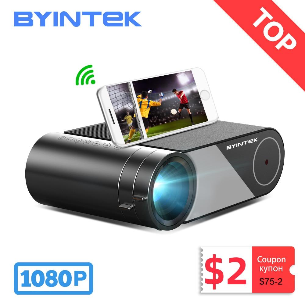 BYINTEK K9 Mini 1280x720P Portable Video Beamer LED Projector Proyector for 1080P 3D 4K Cinema(Optio
