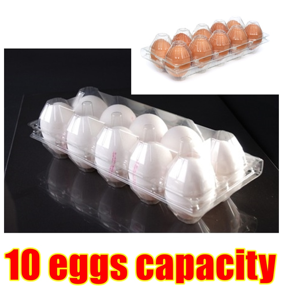 Disposable 10 Holes Eggs Container Plastic Clear Egg Packing Storage Boxes Organizer Racks And Shelf