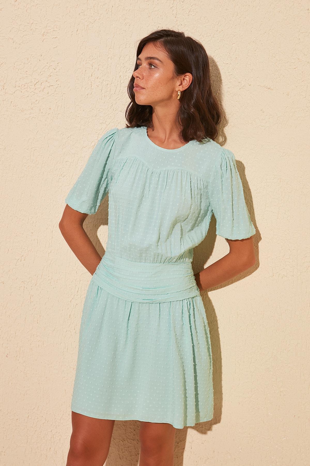 Trendyol Shirred Dress TWOSS20EL0186
