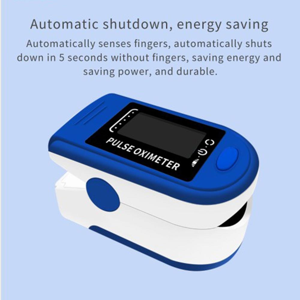 Finger Oximeter Oxygen Saturation Monitor Blood Oxygen Monitor Finger Pulse Household OLED Screen Health Care