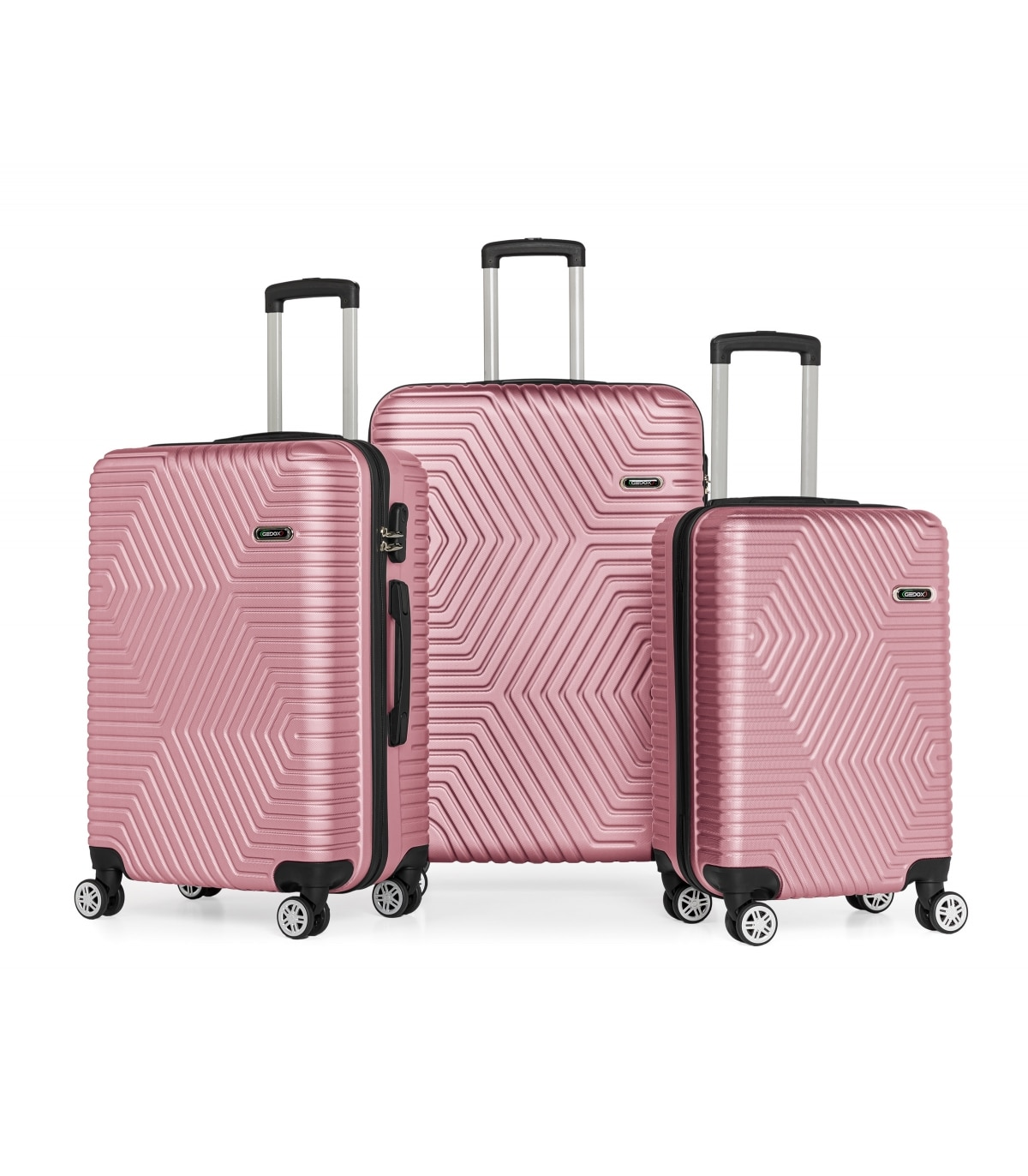 G&D Polo Suitcase ABS Triple Luxury Suitcase 600  - Luggage bag travel suitcase business luggage wheeled bag wheeled quiet