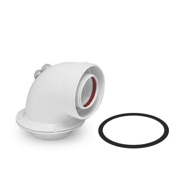 קואקסיאלי curve 90 ° Cointra לבן