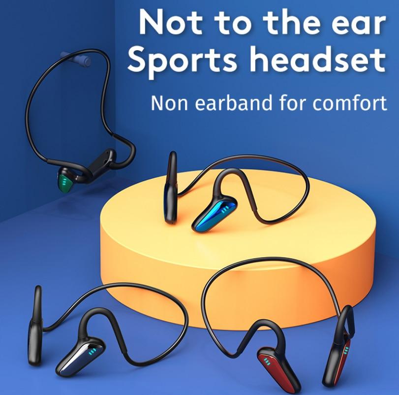 2021 HOT Bone Conduction Headset Bluetooth 5.2 Wireless Sports Headphone IPX5 Waterproof Stereo Black Technology Gaming Earphone enlarge