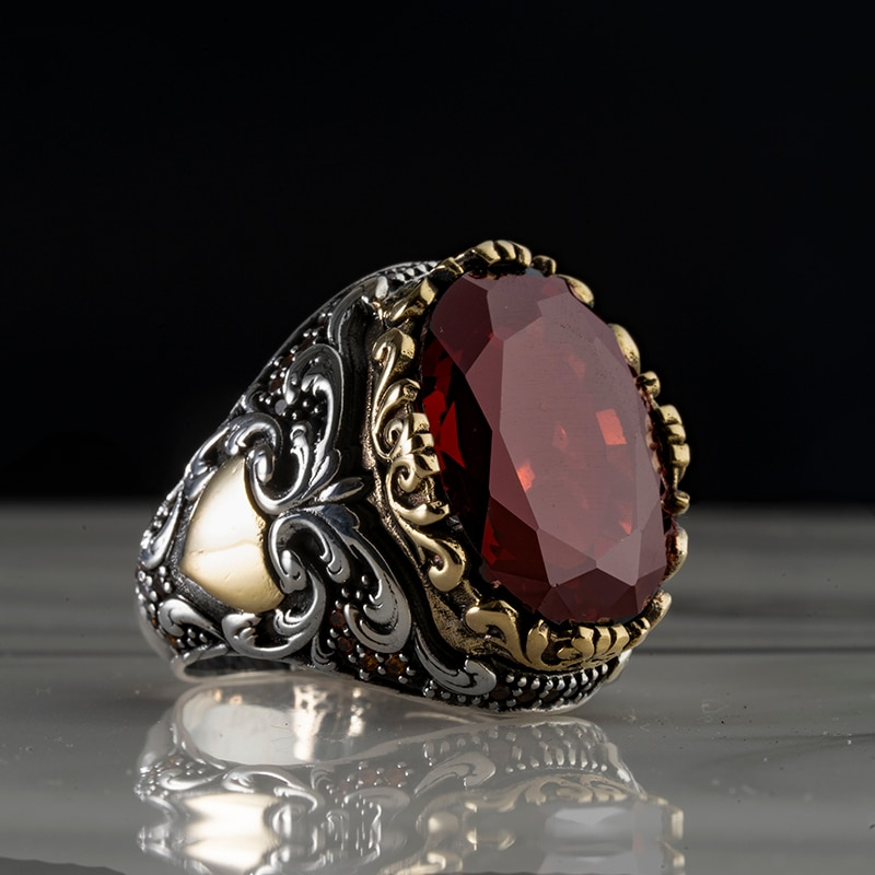 Batman 925 Sterling Silver Zircon / Agate Stone ring Jewelry Made in Turkey in a luxurious way for men with gift ashion Vintage