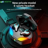 x1 low latency gaming bluetooth headset true wireless 5 1 type c interface game mode music mode colorful light digital display