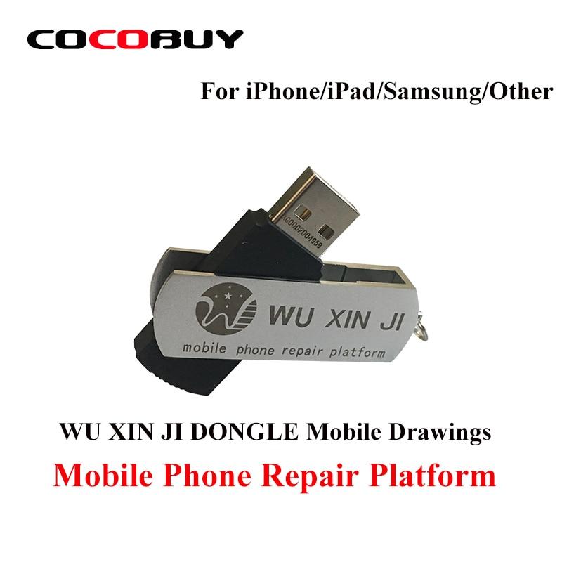 WU XIN JI DONGLE WUXINJI PCB Junta diagrama esquemático para reparar iPhone iPad samsung teléfono software USB reparación dibujos