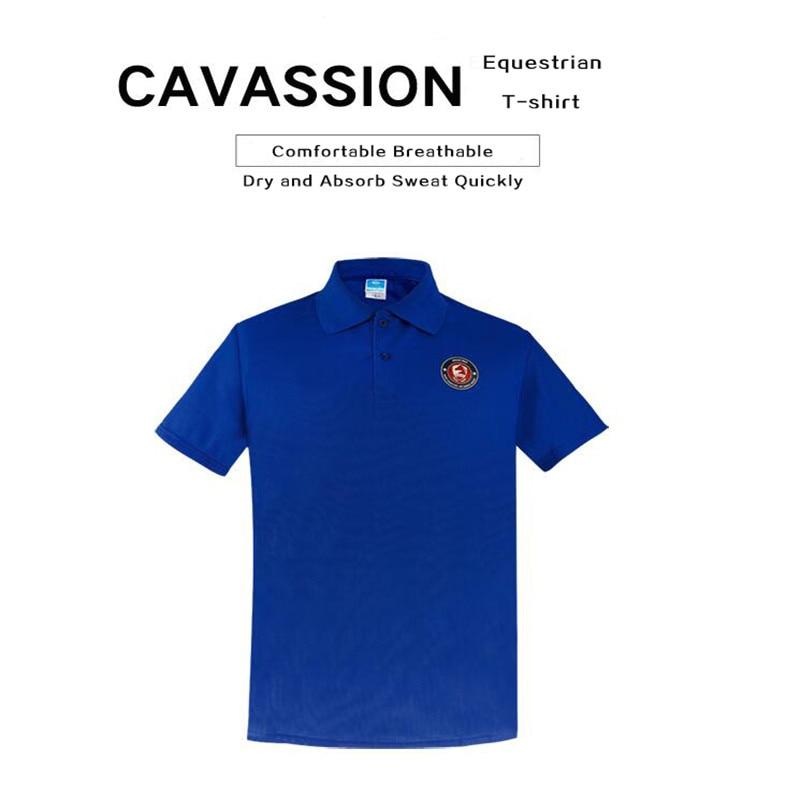 Cavassion Leasure Equestrian T-shirt Dry Absorbing Sweat Fabric Light Easy Drying Knight Equipment