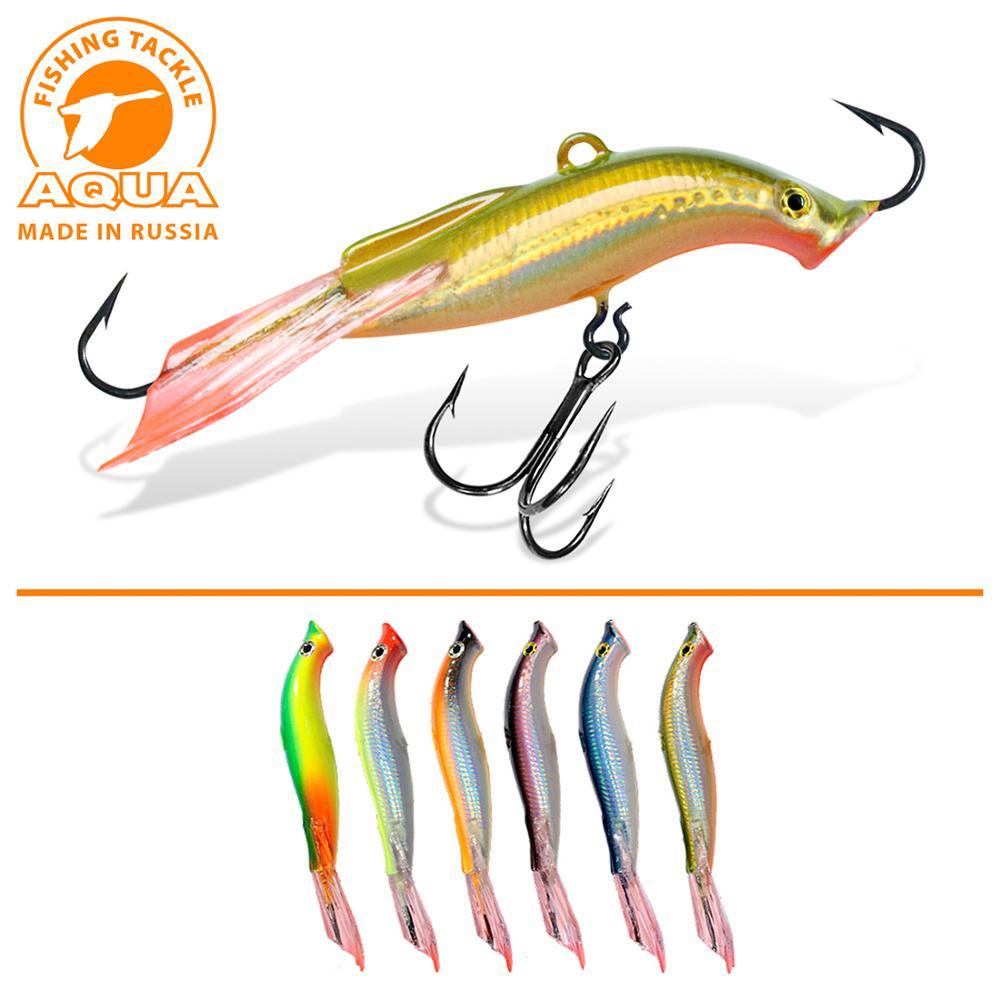 Balanced Ice Fishing Jig AQUA LAMPREY-5 (MINOGA-5) 58mm, 14,0G