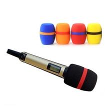 Bolymic padrão 5 pacote microfone pára brisas pop filtro capa para sennheiser skm 5200 6000 9000